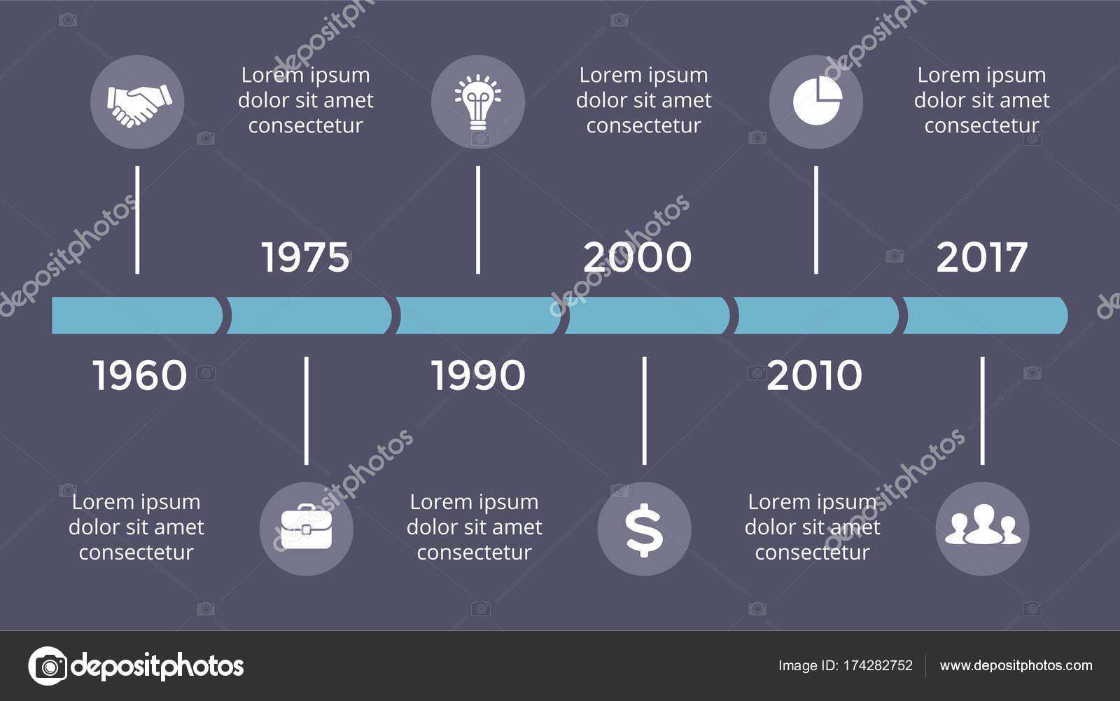 Vektor Metaball Dreiecke Timeline Infografik, Diagramm-Diagramm ...