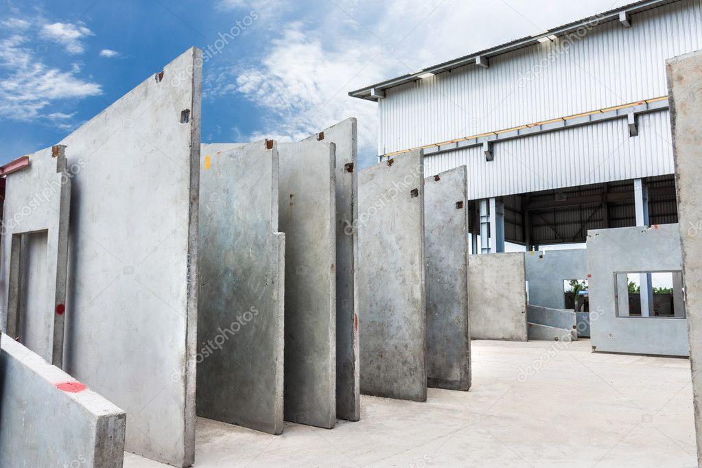 Painel De Parede De Concreto Pr 233 Moldado Stock Photo