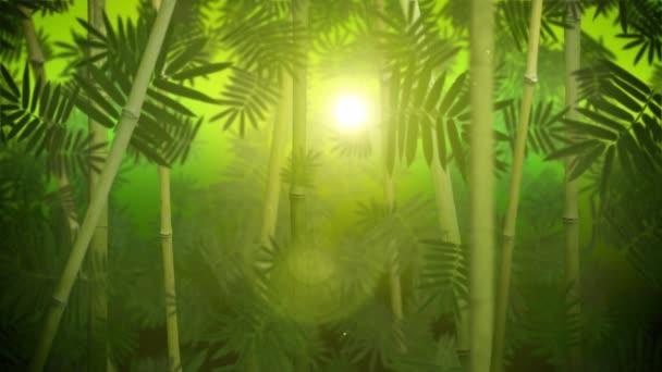 Zelené bambusové háje smyčka