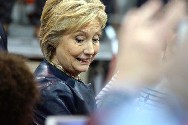 Hillary Clinton Campaigns in St. Louis, Missouri, USA