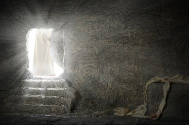 Jesus Leaving Empty Tomb