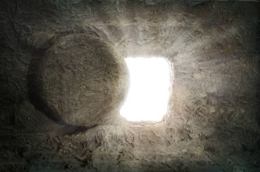 The Tomb of Jesus With Light Coming from Inside