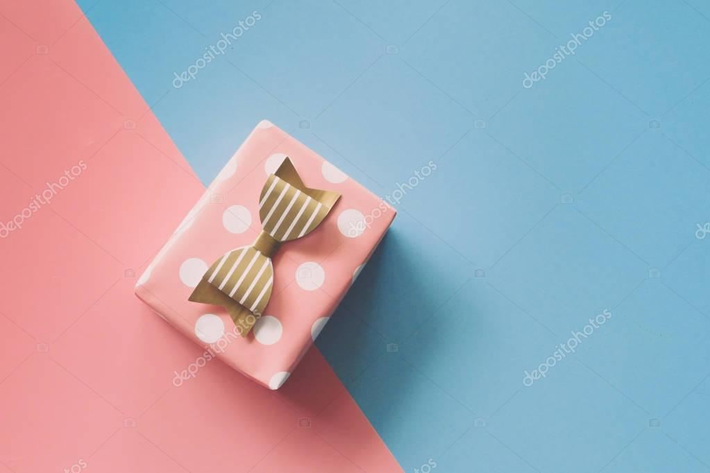 gift box on the color paper