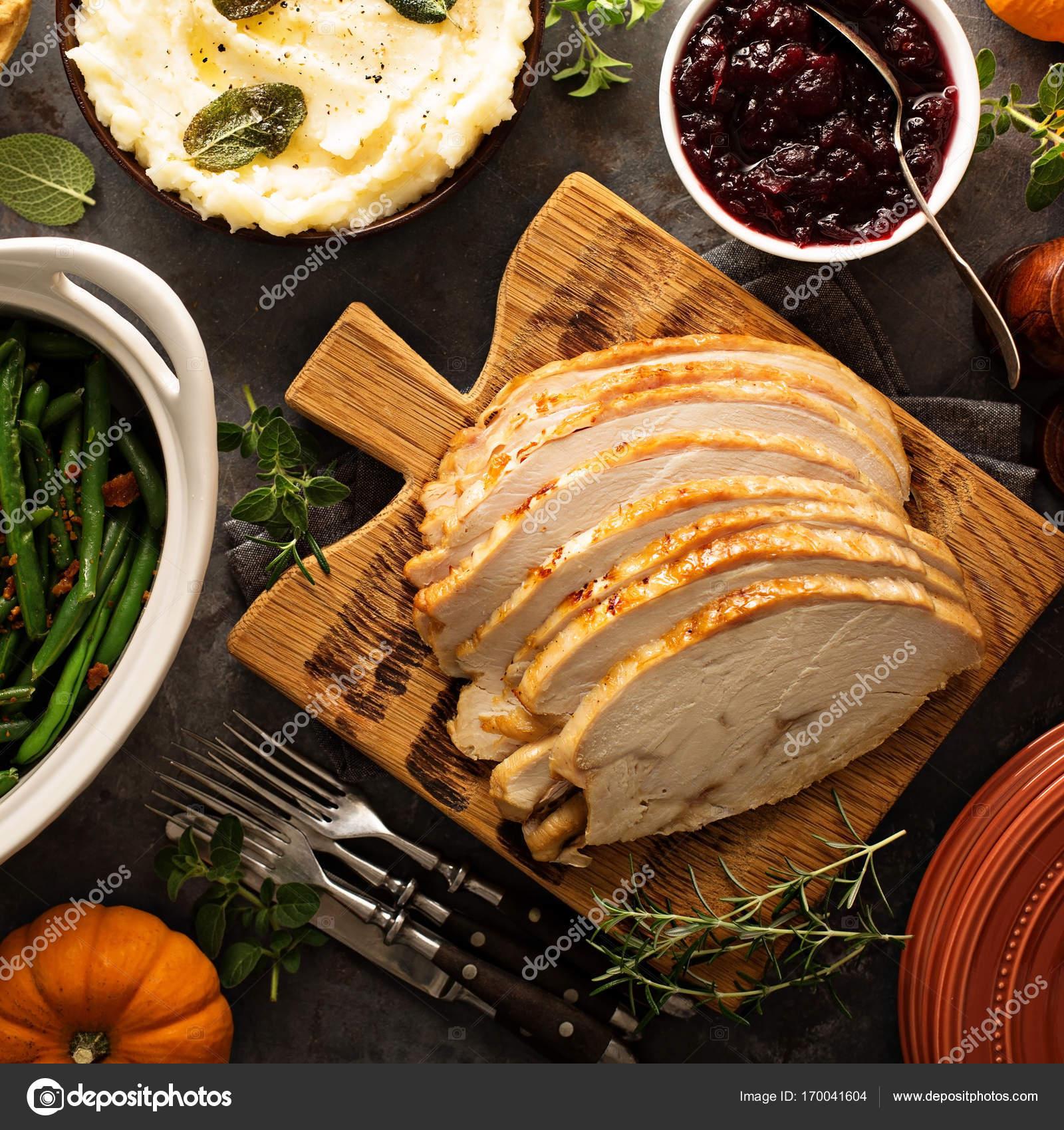 Scheiben gerösteten Tukey Brust für Thanksgiving oder Weihnachten ...