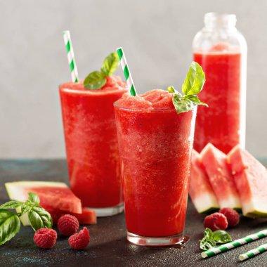 Refreshing cold summer drink watermelon slushie