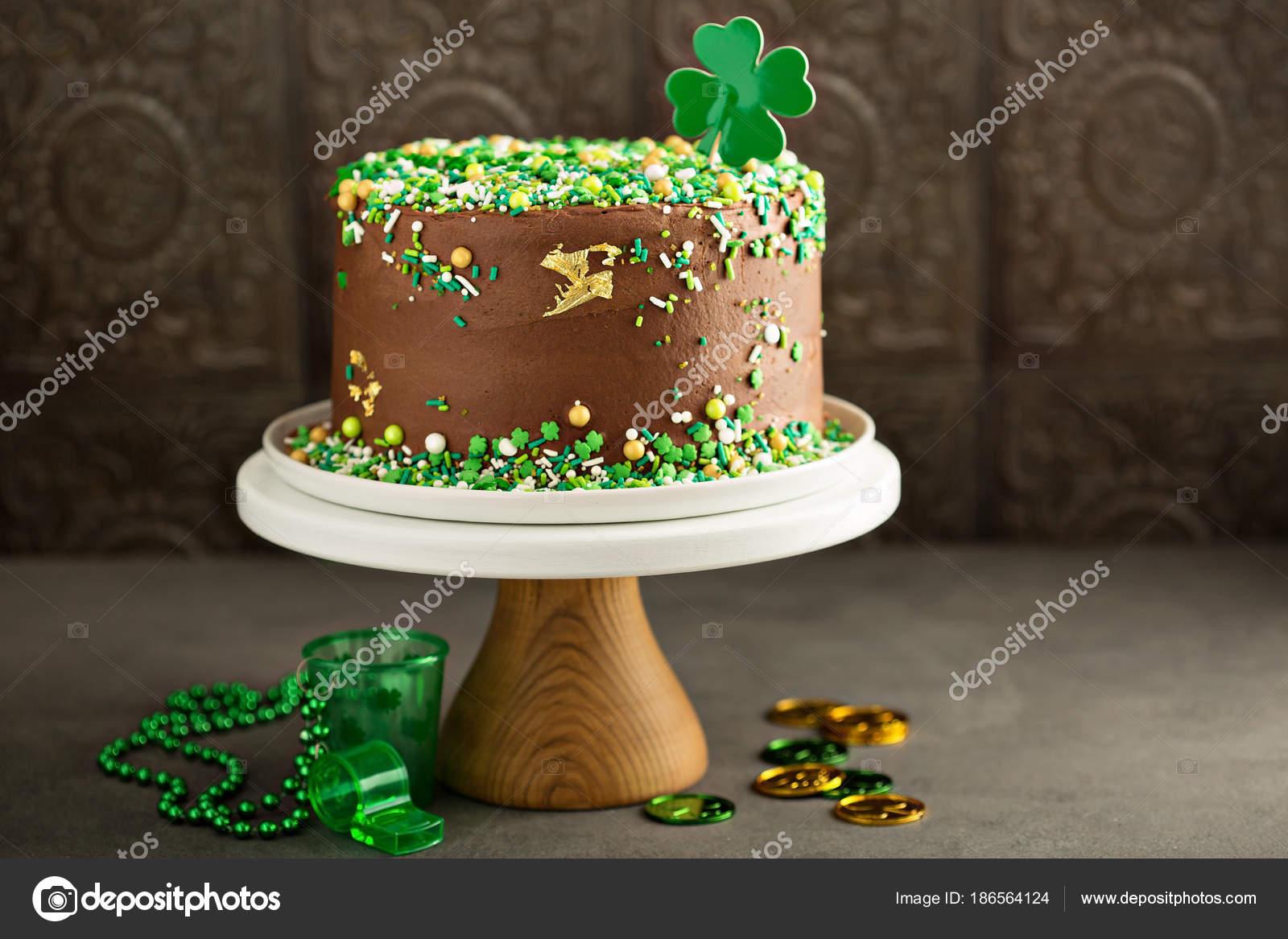 Cool Images Irish Birthday Cake St Patricks Day Chocolate Cake Personalised Birthday Cards Veneteletsinfo