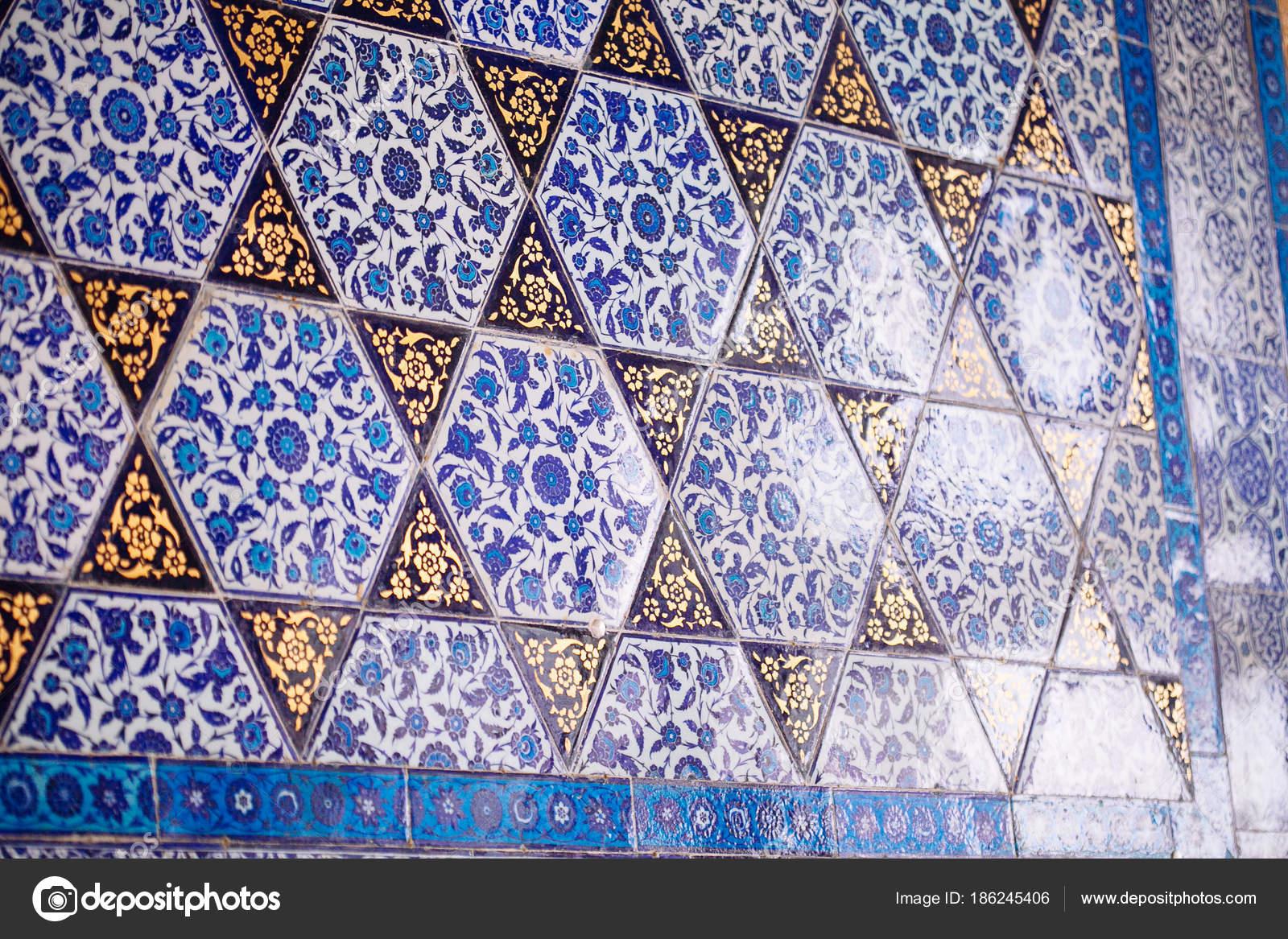 Mattonelle turche handmade antica dell ottomano con motivi