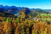 Fotografie hohenschwangau in der nähe von schloss neuschwanstein, bayern