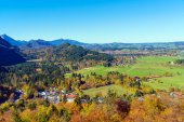 Fotografie Hohenschwangau-Tal in der Nähe von Schloss Neuschwanstein, Bayern, Keim