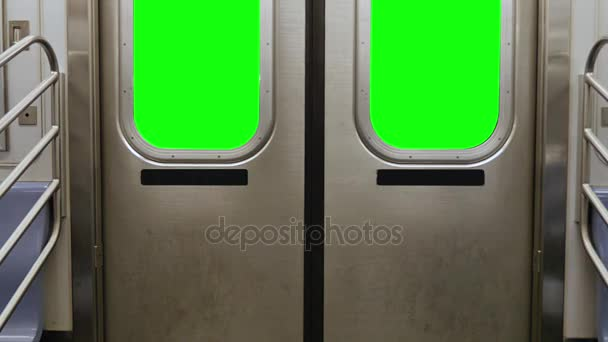 Green Screen New York City Subway Doors Opening \u2014 Stock Video & Green Screen New York City Subway Doors Opening \u2014 Stock Video ...