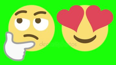 Two Emoticons for Skeptical and Love Emotions