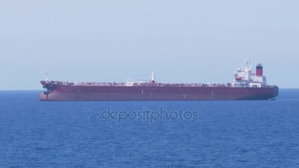 Velké nákladní loď na moři
