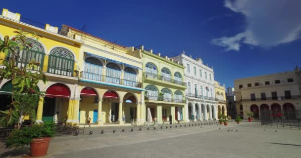 Day Morning Establishing Shot of Havanas Old Town Square