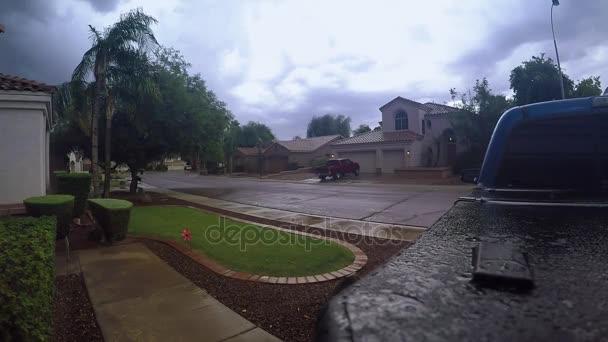Nyári vihar, mint tipikus Arizona lakónegyed