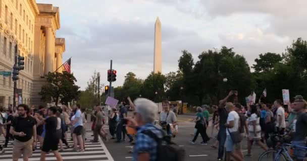 Anti-Hate Protesters March on Pennsylvania Avenue Near Washington Monument