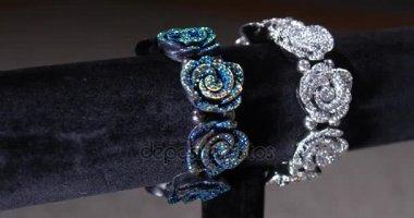 Rotating Silver Costume Jewelry Display