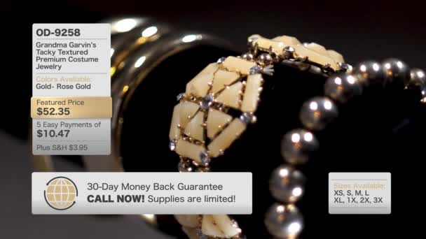 Fictional Home Shopping Television Golden Jewelry Content