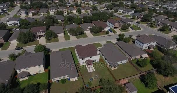 Aerial Flyover of Typical San Antonio Texas Residential Neighborhood