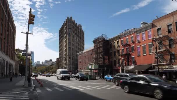 Široký stanovením Shot 6th Avenue Manhattanu provoz