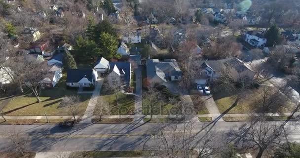 Légi felvétel létrehozó tipikus Ohio lakónegyed