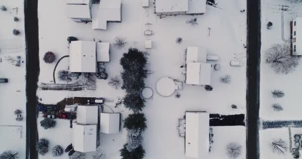 Antenna Nézd egyenesen le a Pennsylvania környéken télen