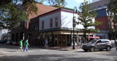 Day Exterior Establishing Shot of Savannah Business