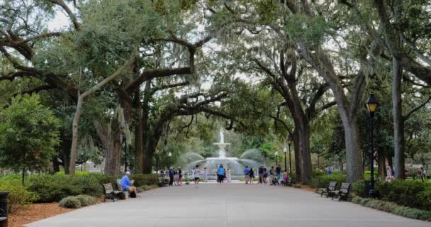 Daytime Establishing Shot of Forsyth Park in Savannah
