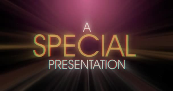 A Retro Special Presentation Title Page Background Plate Animation Distressed Film Look Clean Blank Background And Luma Matte Options Included