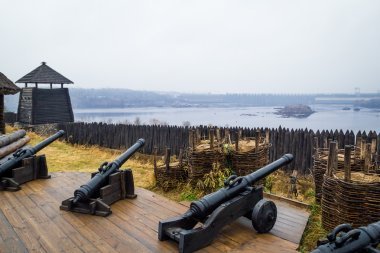 Panoramic view from Zaporizhian National Sich Cossack Museum. Kh