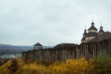 Fortified stockade settlement of Zaporizhzhya guard army troop 1