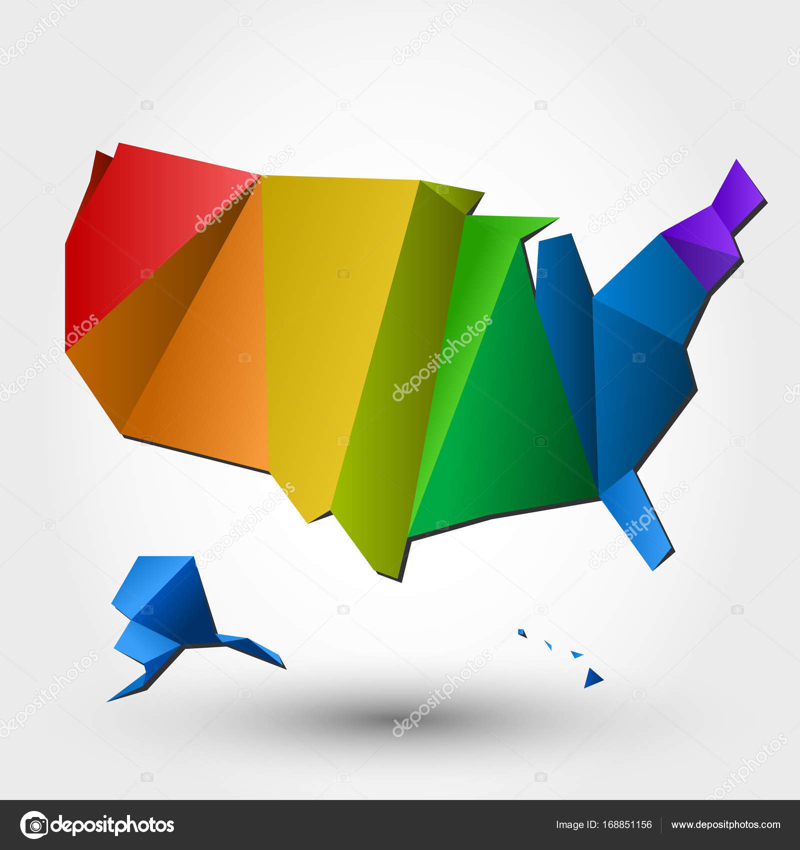 Colorful Map Of Usa.Colorful Usa Map Stock Vector C Mdesignstudio 168851156
