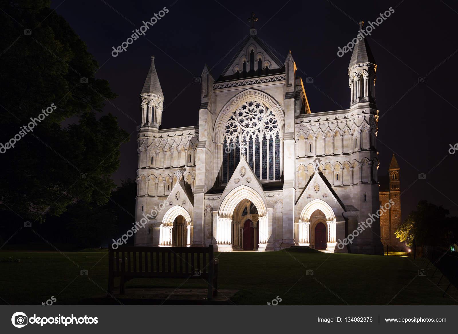 St Albans abdij kerk verlichting Engeland Uk — Stockfoto ...