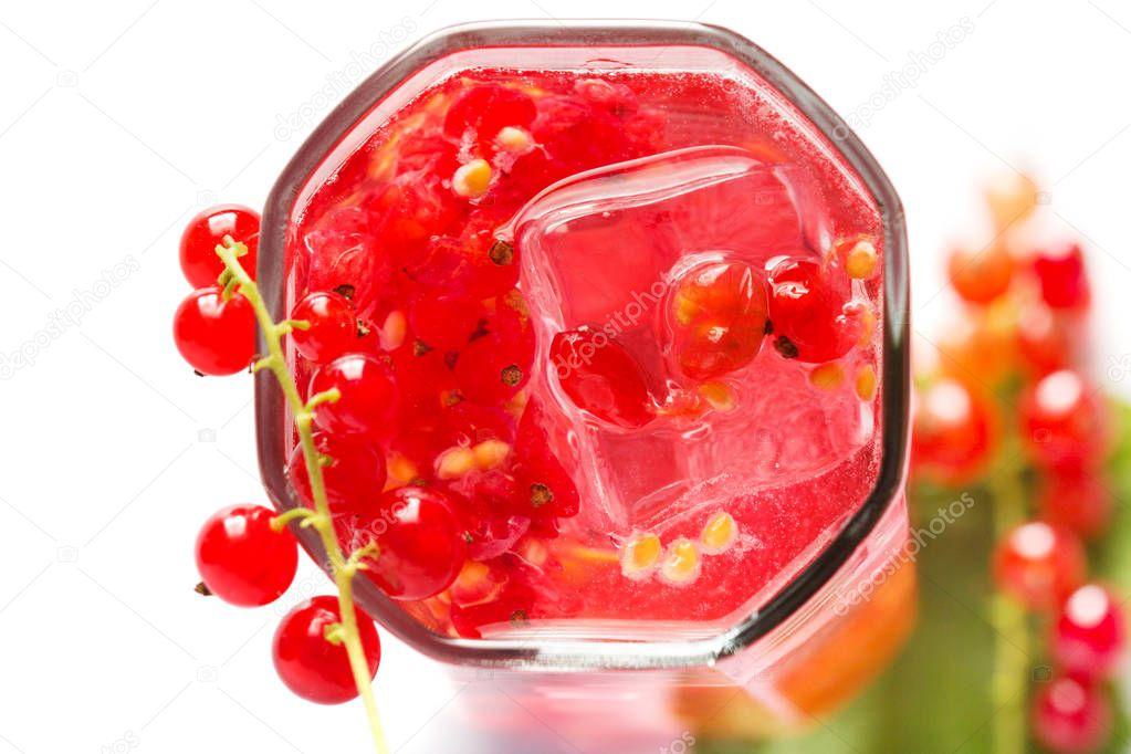 Fresh red current detox summer drink