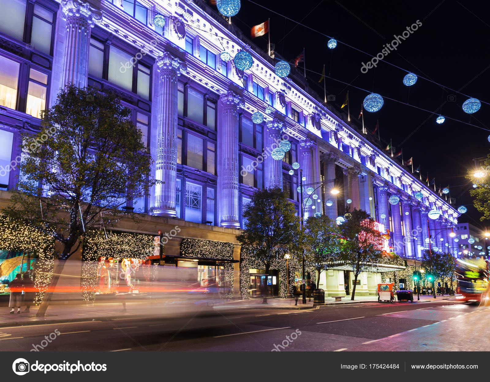 Groot Brittannie Engeland Londen Oxford Street Kerst Stockfoto