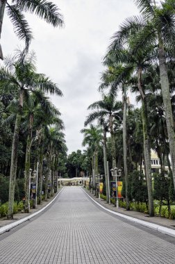 Path leading to Istana Negara, Kuala Lumpur. The Istana Negara now is Royal Museum and was the former residence of the Yang di-Pertuan Agong (Supreme King) of Malaysia.