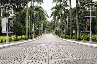 Path leading to Istana Negara, Kuala Lumpur. - The Istana Negara now is Royal Museum and was the former residence of the Yang di-Pertuan Agong (Supreme King) of Malaysia.