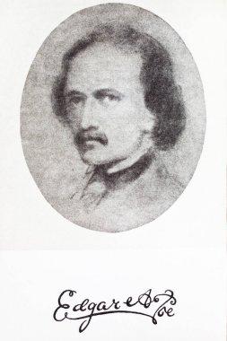 Portrait of Edgar Allan Poe American writer