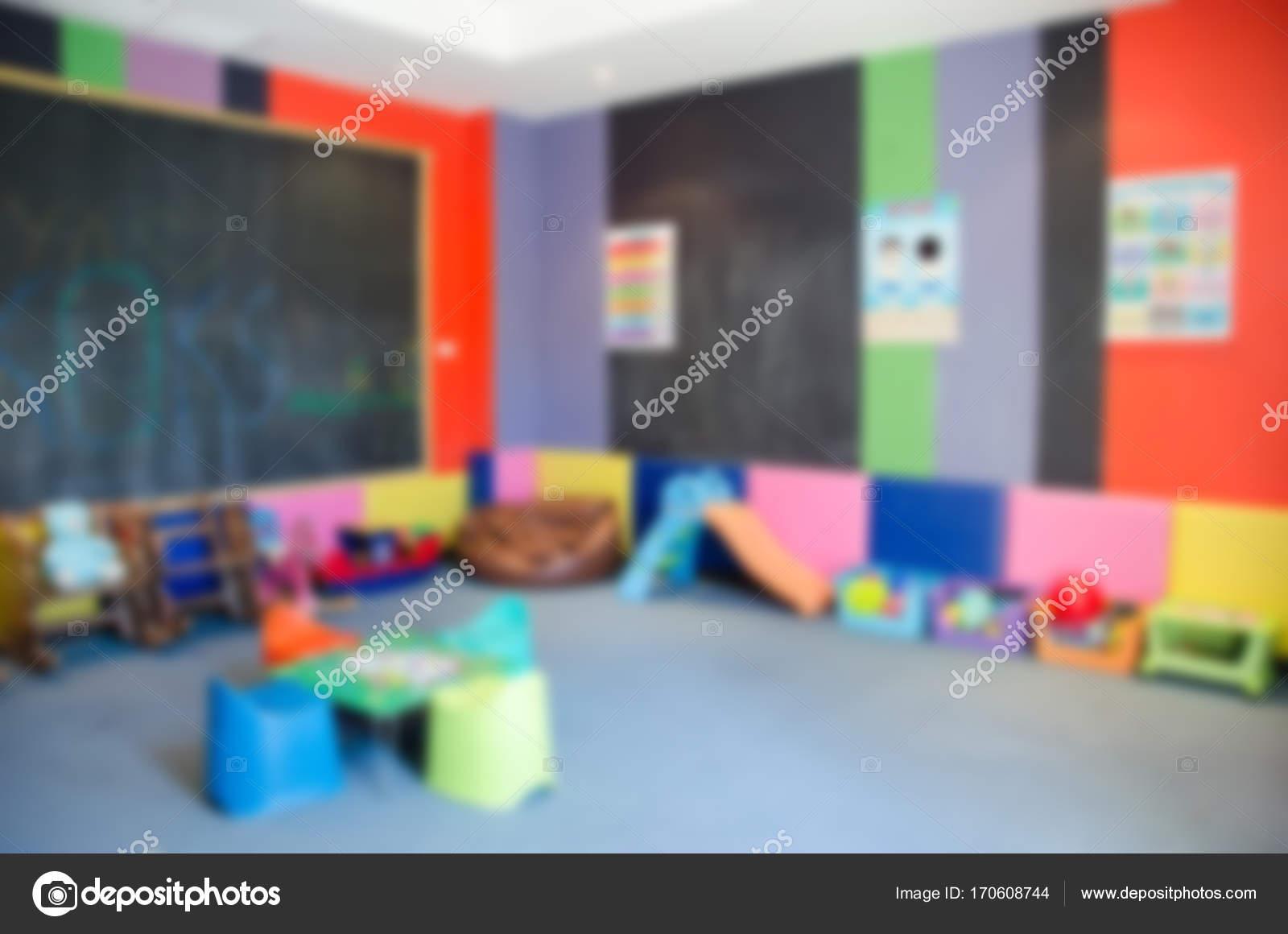 Desenfoque de sala de juegos para nios Foto de stock aoo8449
