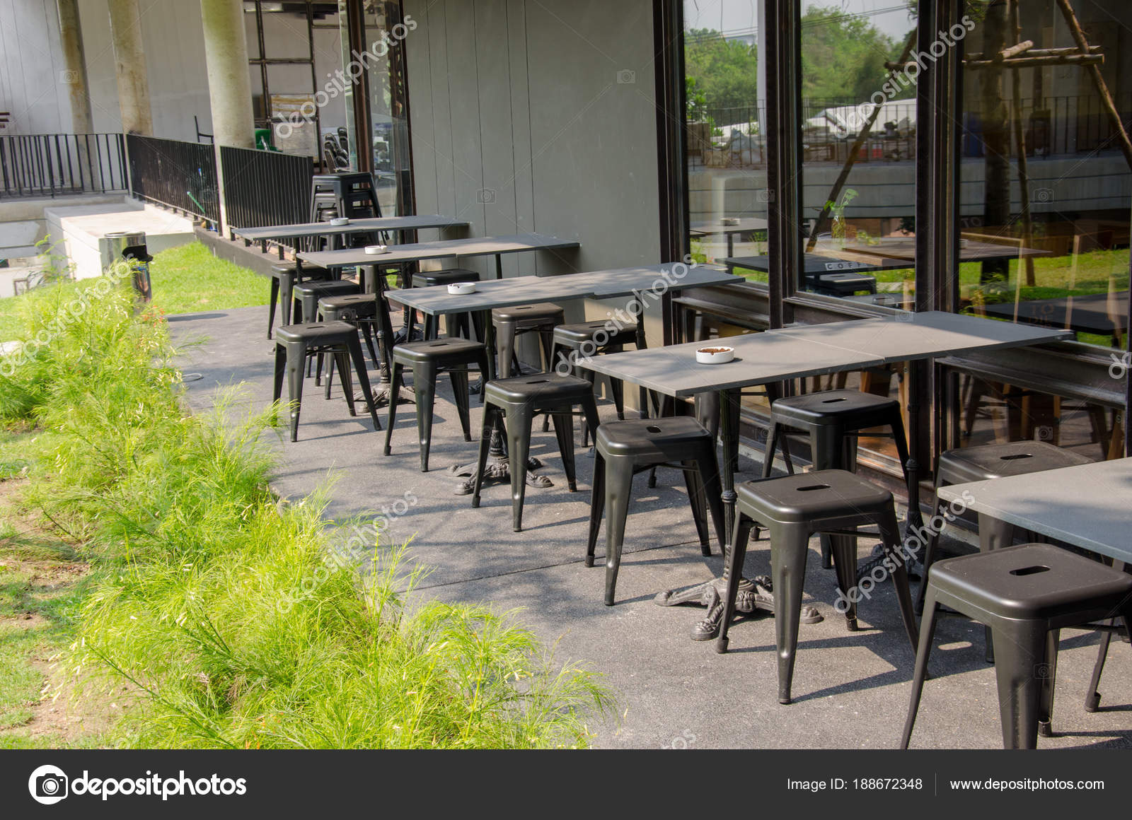 Chairs Outside The Coffee Shop Stock Photo Image By C Aoo8449 188672348