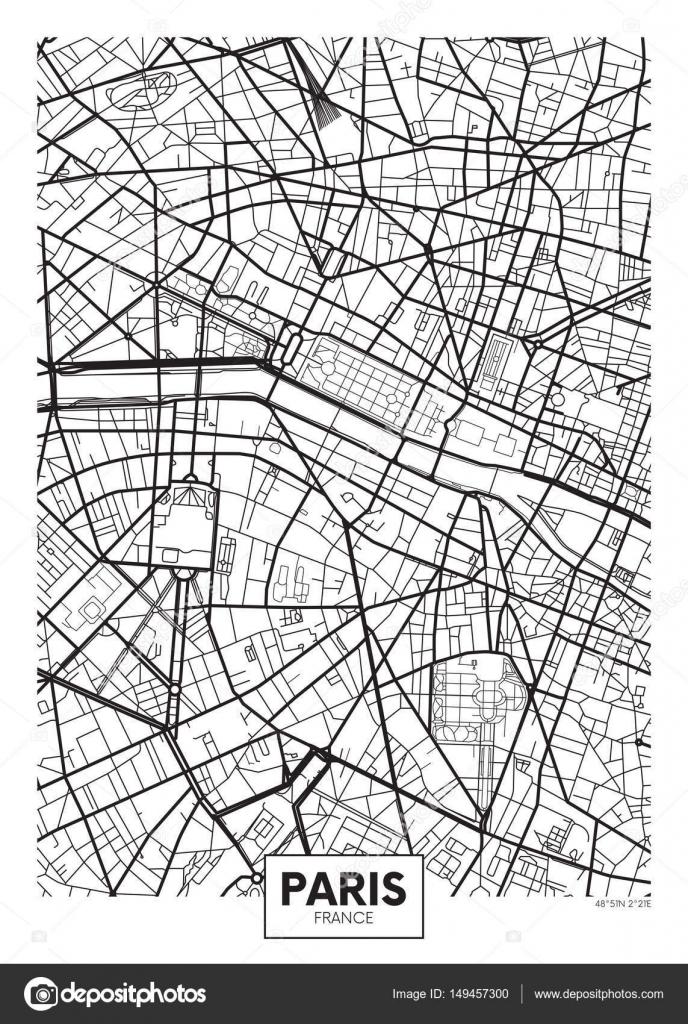 Vector poster map city Paris Stock Vector Max776 149457300