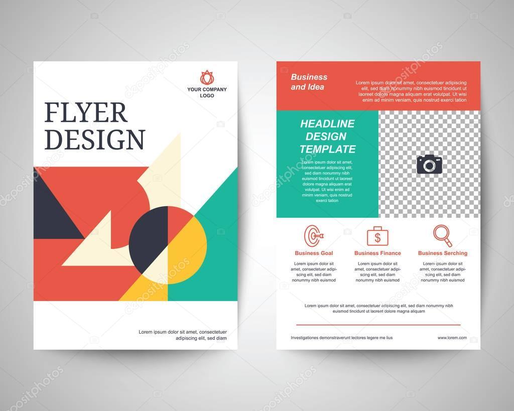 geometrische abstrakte Formen Flyer a4 Vorlage — Stockvektor ...