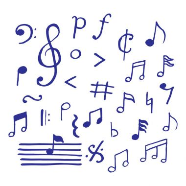 Music notes doodle