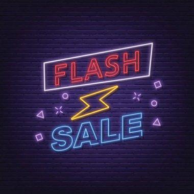 flash sale neon signboard