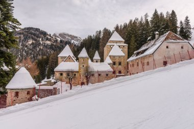 Castel Gardena in the Dolomites