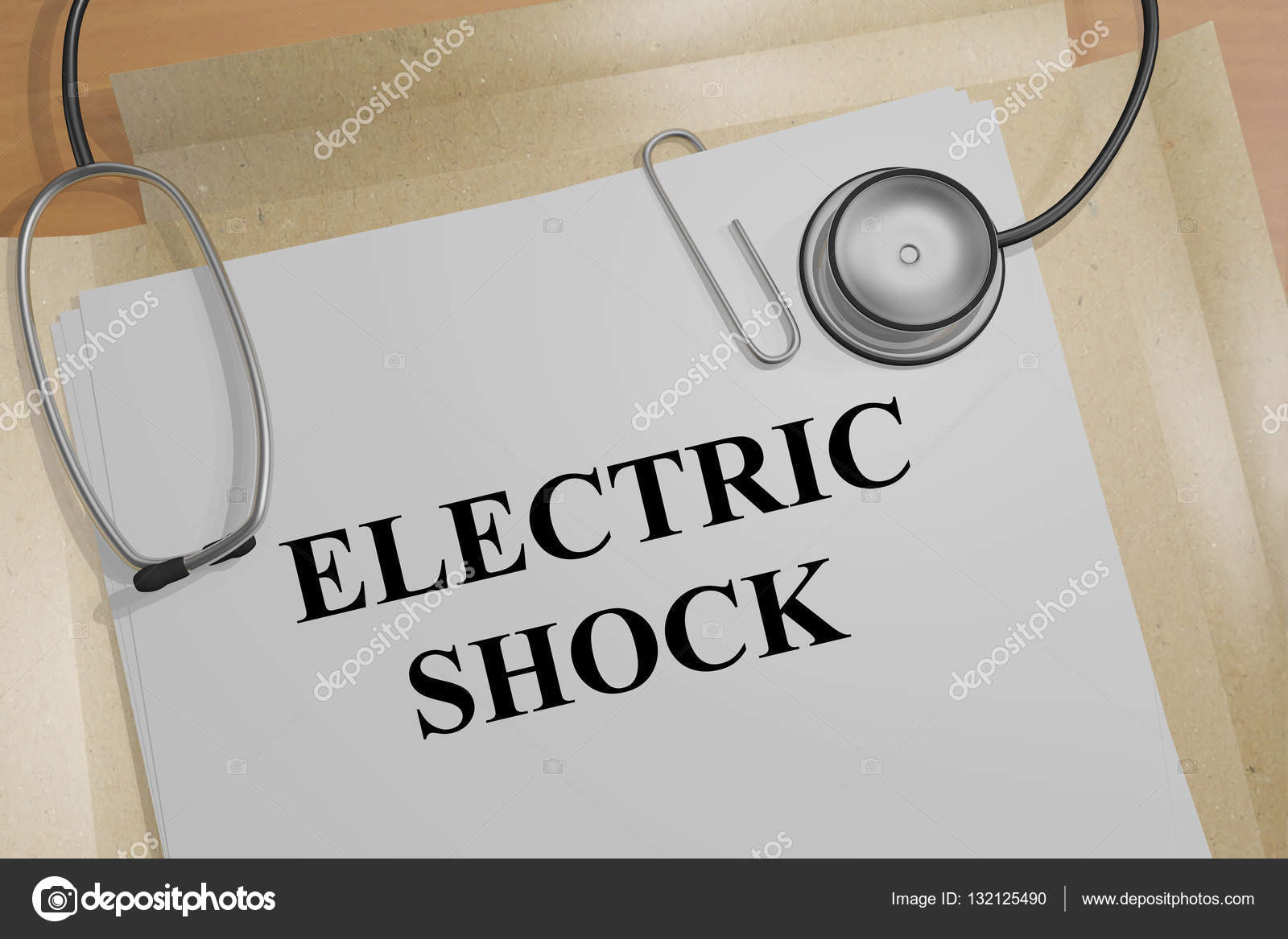 Electric Shock - medical concept — Stock Photo