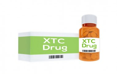 XTC Drug - narcotic concept