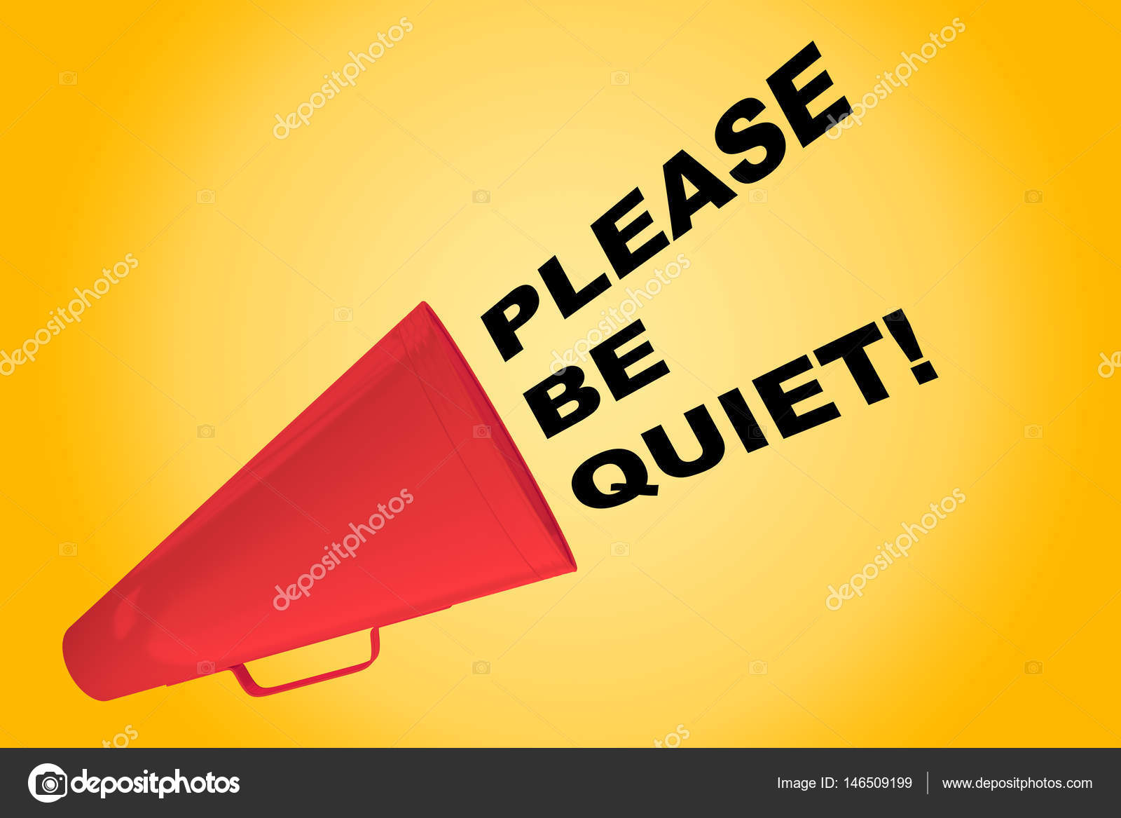 please be quiet concept stock photo premium shots 146509199