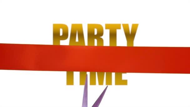 Party Time koncepció szalag vágás