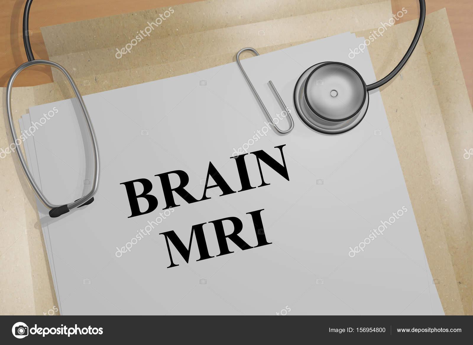 Gehirn MRT - medizinisches Konzept — Stockfoto © Premium_shots ...