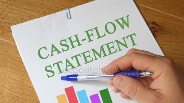 Výkaz peněžních toků. Zpráva
